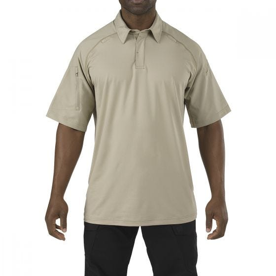 5.11 Rapid Performance Polo Short Sleeve Silver Tan