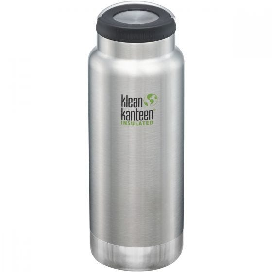 Klean Kanteen TKWide 946ml Insulated Bottle Loop Cap Brushed Stainless