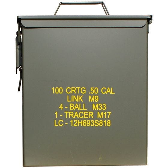 Mil-Tec US Ammo Box M9 Cal.50 Large Olive