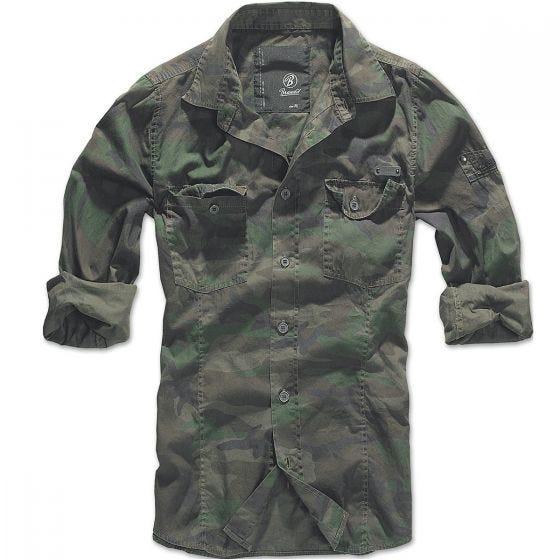 Brandit SlimFit Shirt Woodland