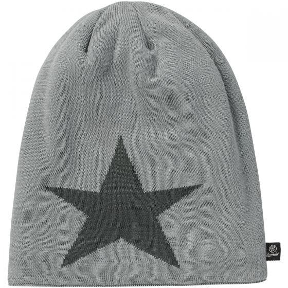 Brandit Beanie Star Cap Silver Grey Melange