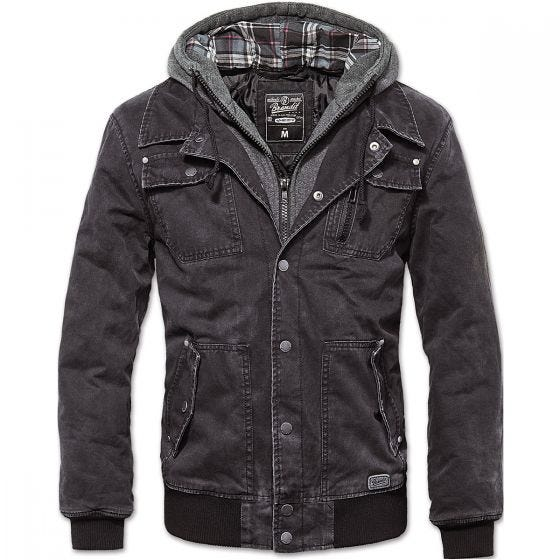 Brandit Dayton Jacket Black Washed