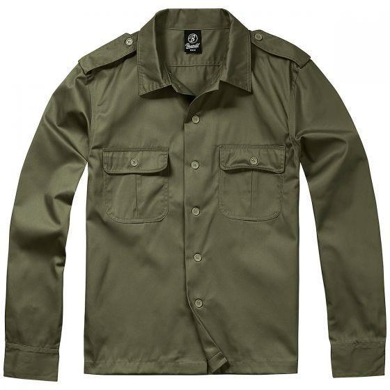 Brandit US Shirt Long Sleeve Olive