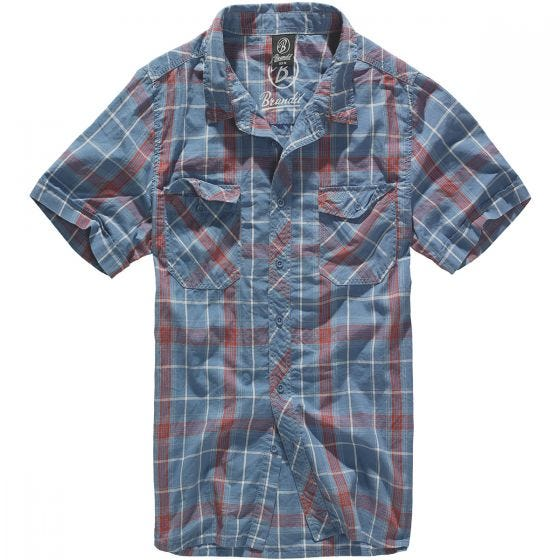 Brandit Roadstar Shirt Red / Blue
