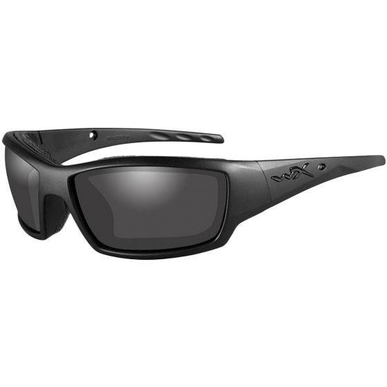 Wiley X WX Tide Glasses - Smoke Grey Lens / Black Ops Matte Black Frame