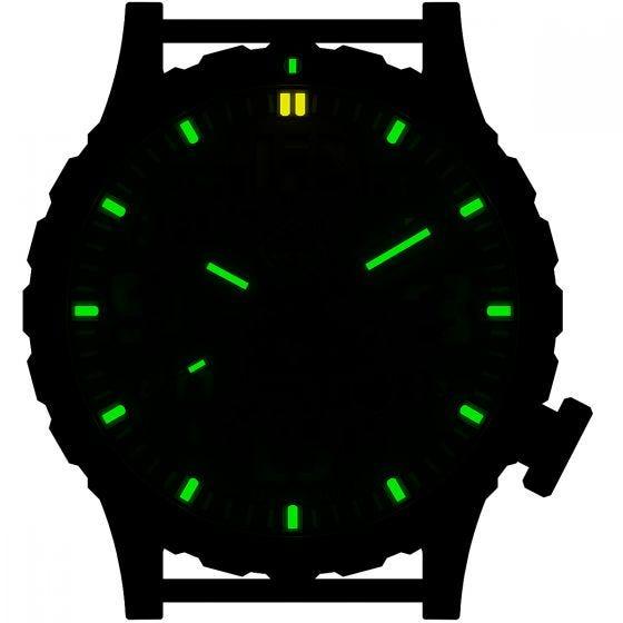 Hazard 4 Heavy Water Diver Titanium Tritium Watch SnowField Green/Yellow