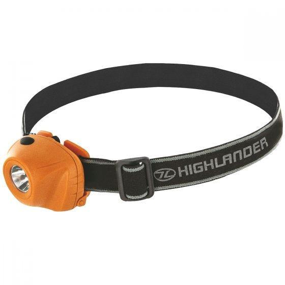 Highlander Beam 1W LED Headlamp Orange / Black