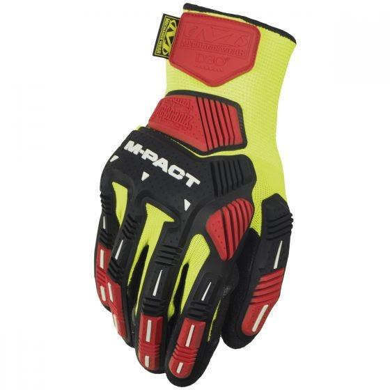 Mechanix Wear The Safety M-Pact Knit CR3A3 Gloves Hi-Viz Yellow