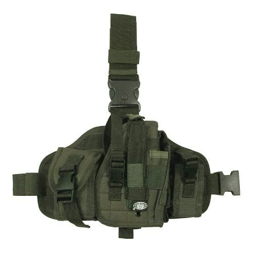 MFH MOLLE Leg Holster with Pouches Olive