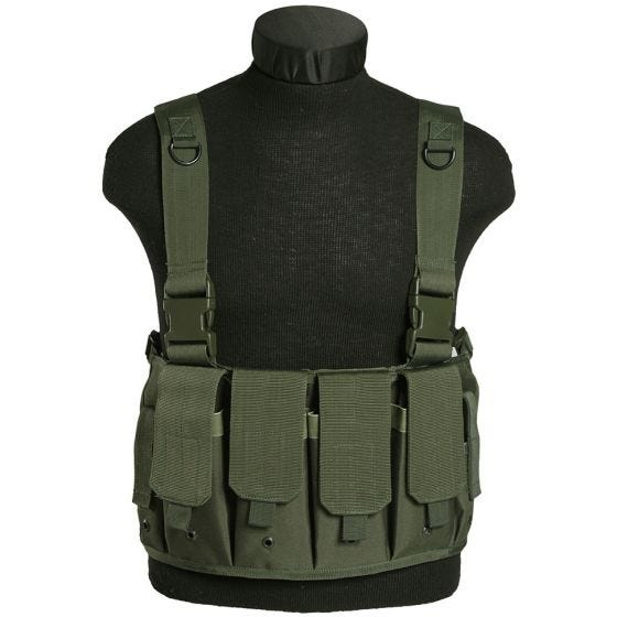 Mil-Tec Mag Carrier Chest Rig Olive