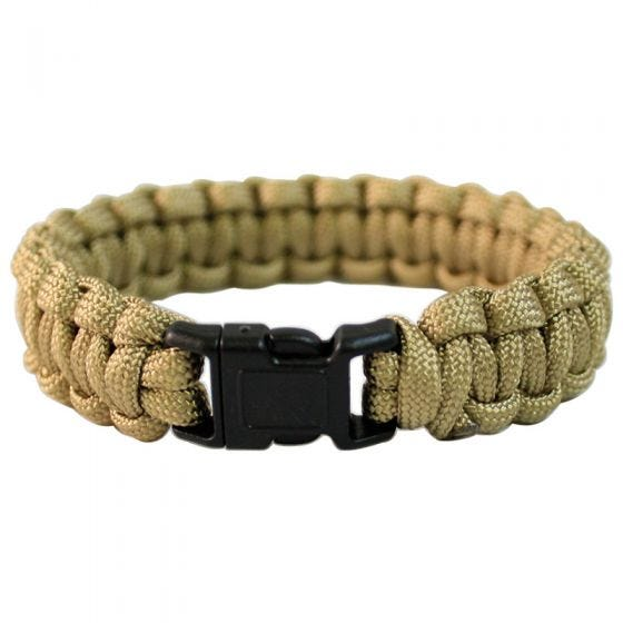 Mil-Tec Paracord Wrist Band 22mm Coyote