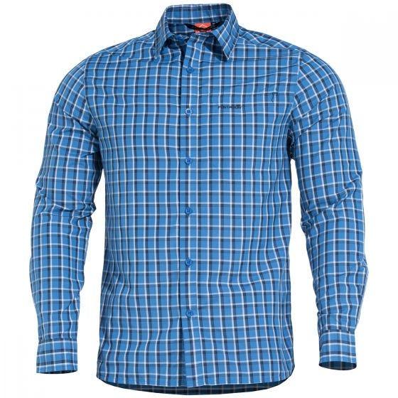Pentagon Snoop Long Shirt Blue Checks