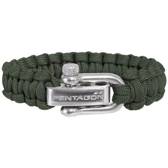 Pentagon Survival Bracelet Camo Green