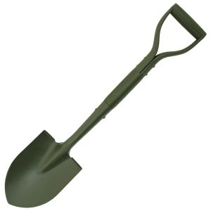 MFH Type II Jeep Steel Shovel with Wood Handle OD Green