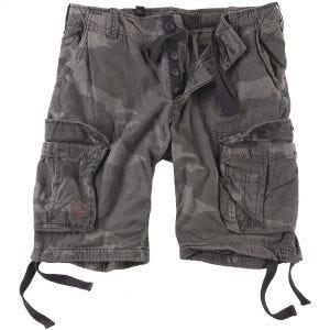 Surplus Airborne Vintage Shorts Washed Black Camo