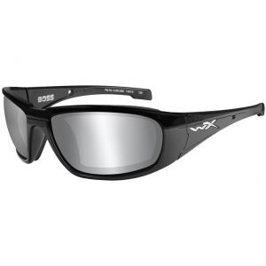 06a9cb1ddec Quick View Wiley X WX Boss Glasses - Smoke Grey Silver Flash Lens   Gloss  Black Frame