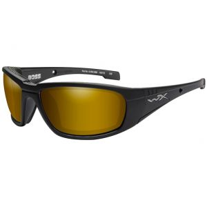 e492e653c70 Quick View Wiley X WX Boss Glasses - Polarized Venice Gold Mirror Lens    Matte Black Frame