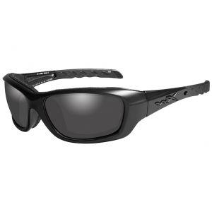 Wiley X WX Gravity Glasses - Smoke Grey Lens / Black Ops Matte Black Frame