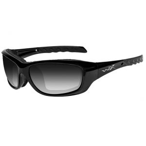 Wiley X WX Gravity Glasses - Light Adjusting Smoke Grey Lens / Gloss Black Frame
