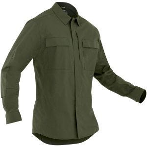 First Tactical Men's Tactix Long Sleeve BDU Shirt OD Green