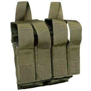 Flyye Double M4/M16 + Quad Pistol Magazine Pouch MOLLE Ranger Green