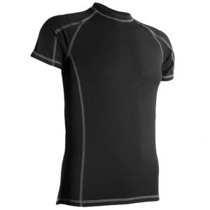 Highlander Men's Bamboo 190 Short Sleeve Top Black