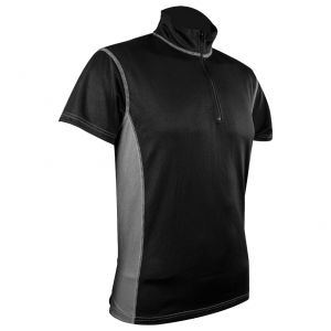 Highlander Men's Pro Tech Zip Neck Top Black / Grey