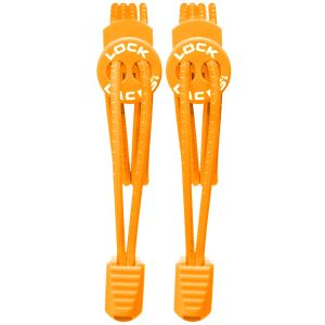 Lock Laces Elastic No Tie Shoelaces Orange