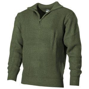 MFH Navy Sweater Acrylic OD Green