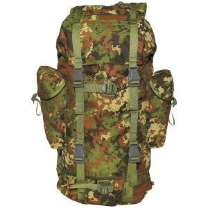 MFH German Army Rucksack 65L Vegetato Woodland