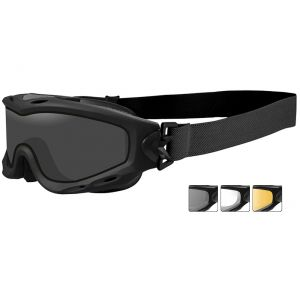 Wiley X Spear Goggles - Smoke Grey + Clear + Light Rust Lens / Matte Black