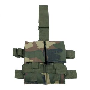 MFH Tactical Leg Pouch Double Magazine Woodland