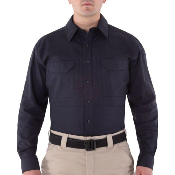 First Tactical Men's V2 Long Sleeve Tactical Shirt Midnight Navy