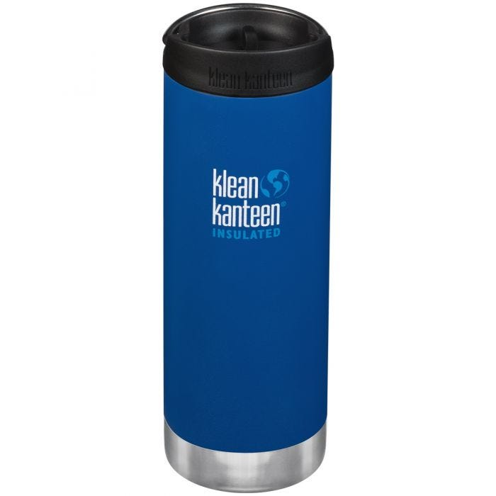 Klean Kanteen TKWide 473ml Insulated Bottle Cafe Cap Deep Surf
