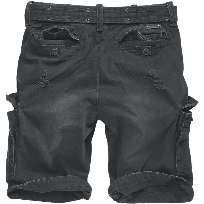 Brandit Shell Valley Heavy Vintage Shorts Black