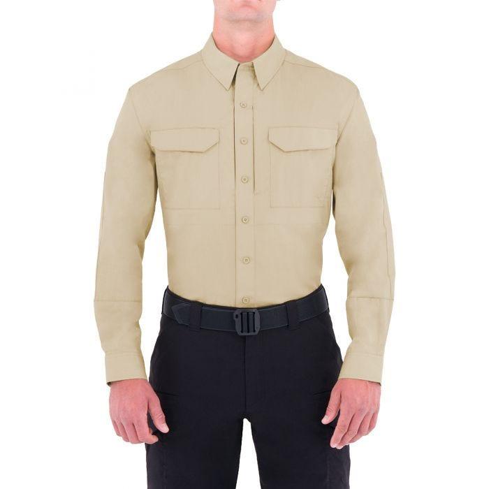 First Tactical Men's Specialist Long Sleeve Tactical Shirt Khaki