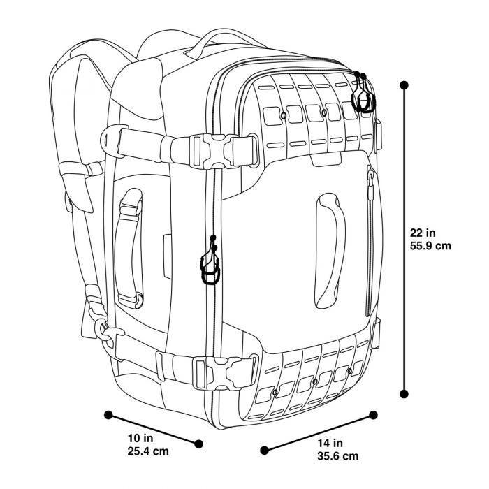 Maxpedition Ironcloud Adventure Travel Bag Grey