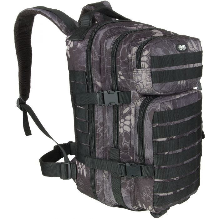 MFH Backpack Assault I Snake Black