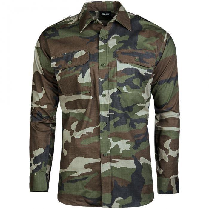 Mil-Tec RipStop Shirt Long Sleeve CCE