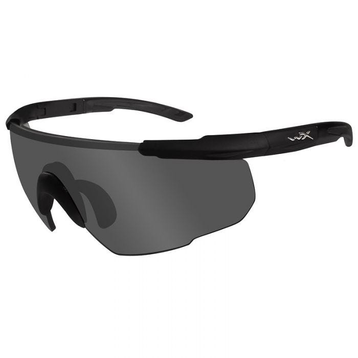 Wiley X Saber Advanced Glasses - Smoke Grey Lens / Matte Black Frame