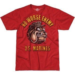 7.62 Design USMC No Worse Enemy Battlespace T-Shirt Scarlet Heather