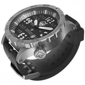 Hazard 4 Heavy Water Diver Titanium Tritium Watch Bead-Blasted Black Dial White Graphics BBRB