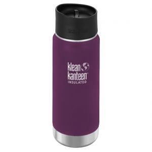 Klean Kanteen Wide Mouth Insulated 473ml Bottle Cafe Cap 2.0 Winter Plum