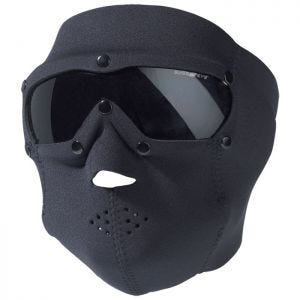 Swiss Eye Neoprene Face Mask with Integrated Goggles Black Smoke Lens