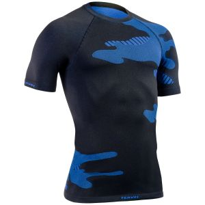 Tervel Optiline Light Shirt Short Sleeve Black/Blue