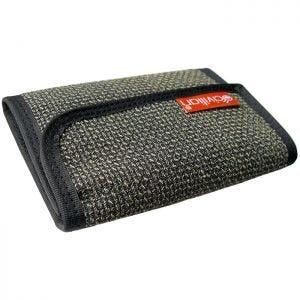 Civilian Tactical Tri-Fold Kevlar Clip Wallet Grayish Bi-Weave