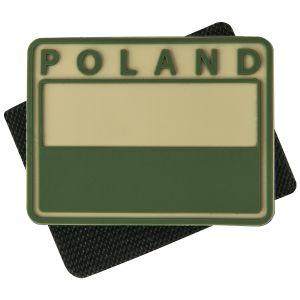 Helikon Polish Subdued Flag Patch with Poland Print Khaki Set of 2