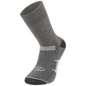 Highlander Trek Combed Cotton Sock Grey