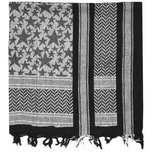 Mil-Tec Shemagh Scarf Stars Black / White