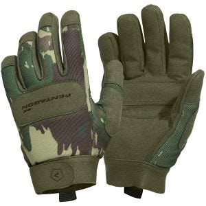 Pentagon Duty Mechanic Gloves Greek Lizard